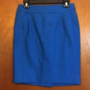 J Crew royal blue Pencil Skirt- sz 6 NWT